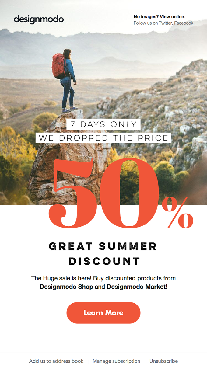 🔆 ON SALE NOW: 50% OFF all Designmodo Products – Summer Discount!
