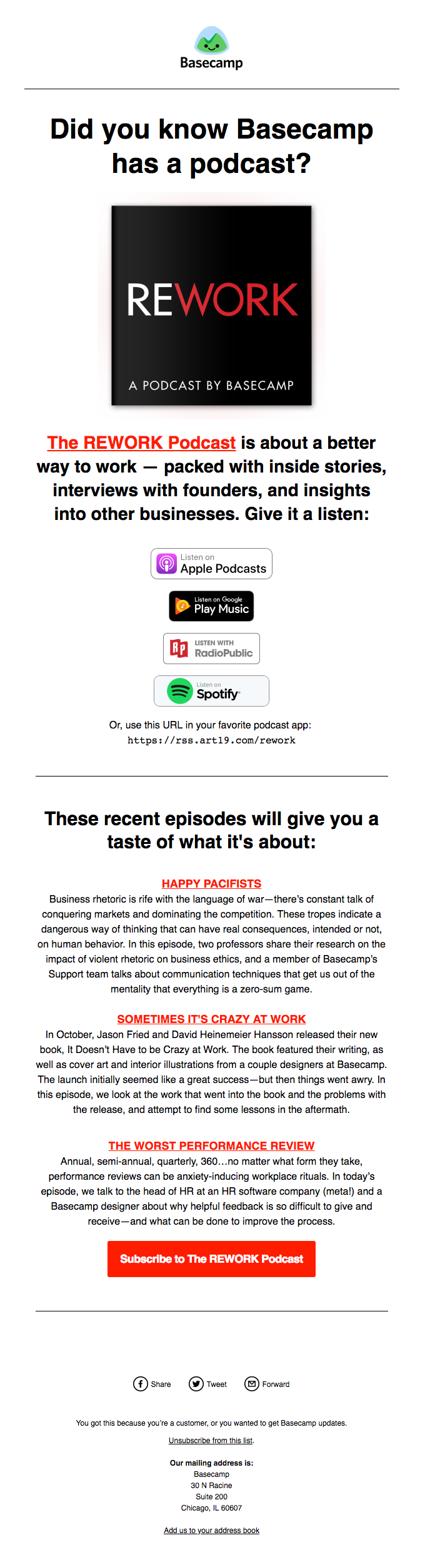 Did you know Basecamp has a podcast?