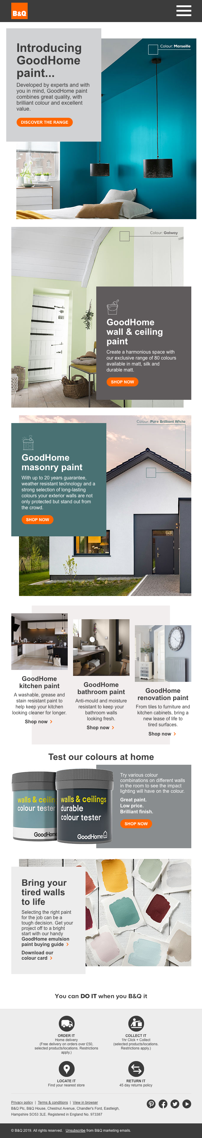 Discover our brilliant new paint range