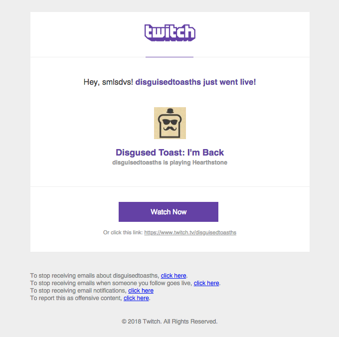 DisguisedToastHS is live: I'm Back