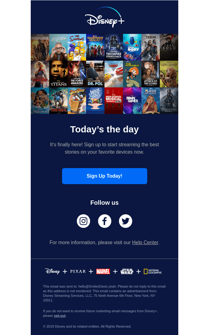 Disney+ is now live!