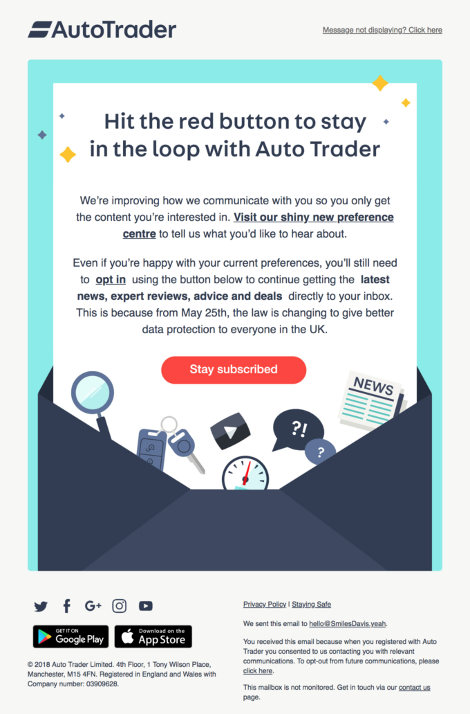 Don't forget, update your preferences so you never miss out with Auto Trader