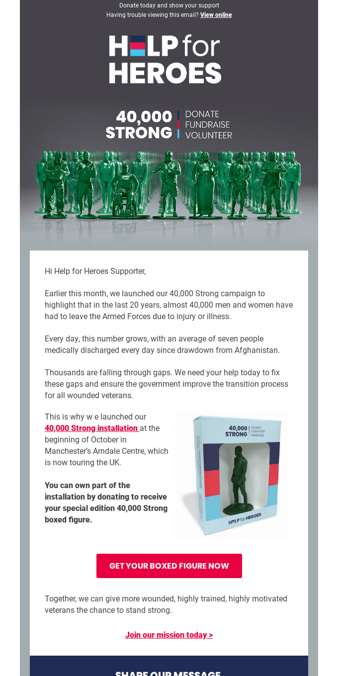 Don't miss the chance to own a special edition 40,000 Strong figure