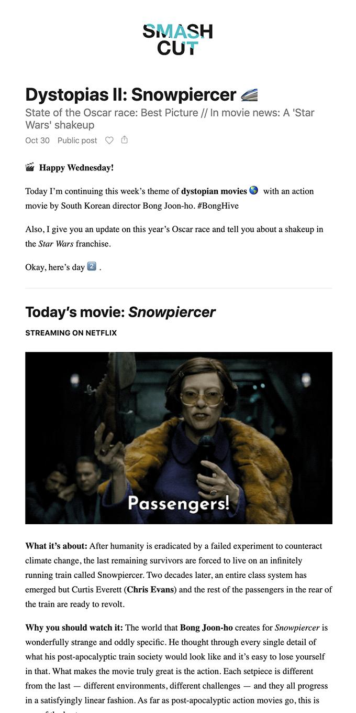Dystopias II: Snowpiercer 🚄