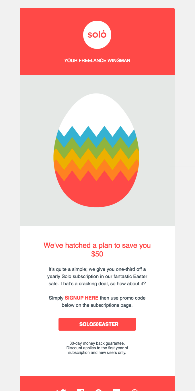 Easter Sale: We've hatched a plan to save you $50