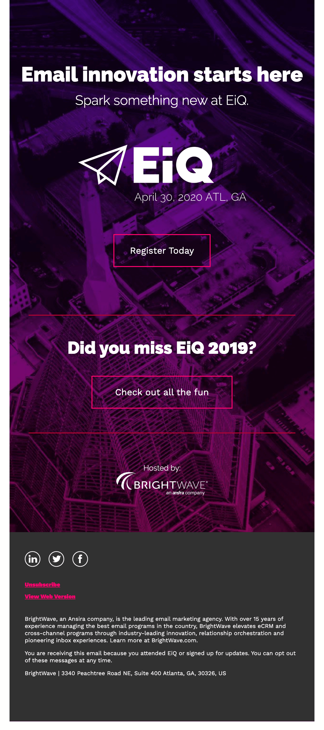 EiQ 2020 Details Are Here!