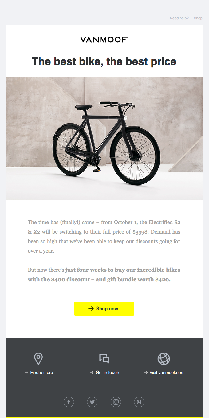 Electrified launch discount ends September 30