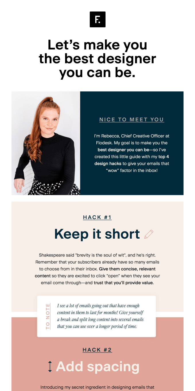 Email design hacks from Rebecca 👩‍🎨