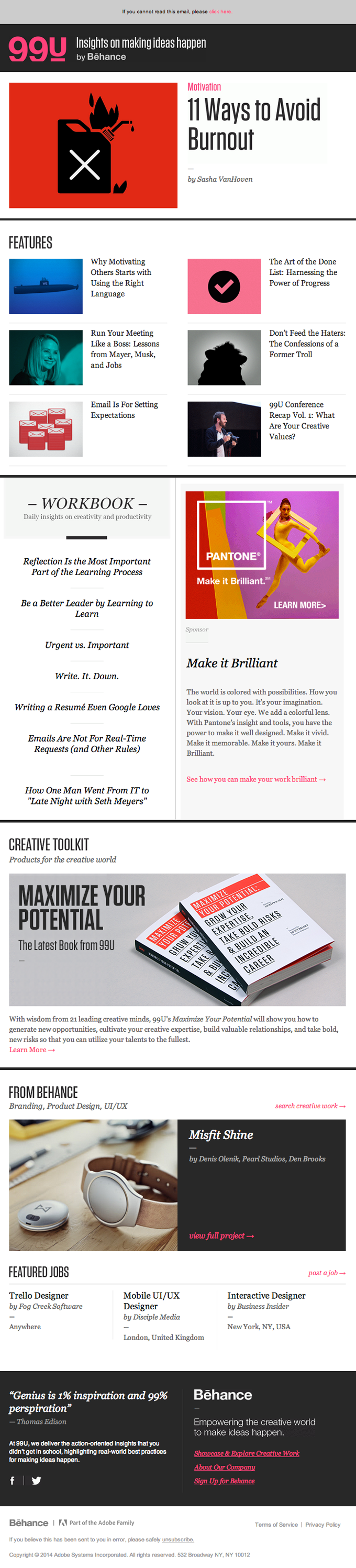 Email Newsletter Design from Behance | Really Good Emails