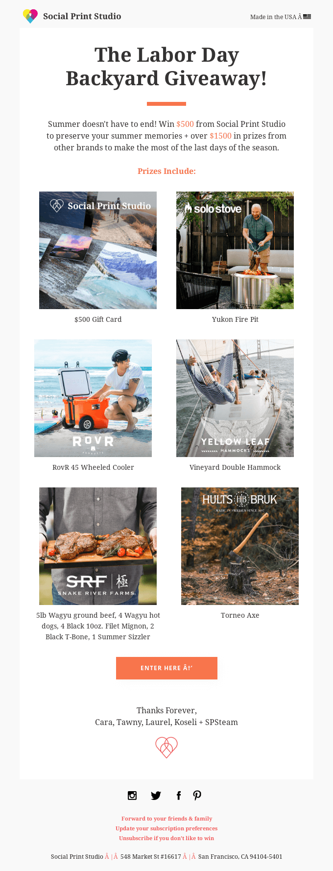 End of Summer Giveaway for all you outdoorsy types