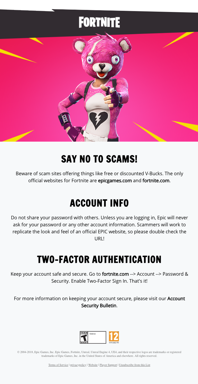 Epic Games – Keep Your Account Secure