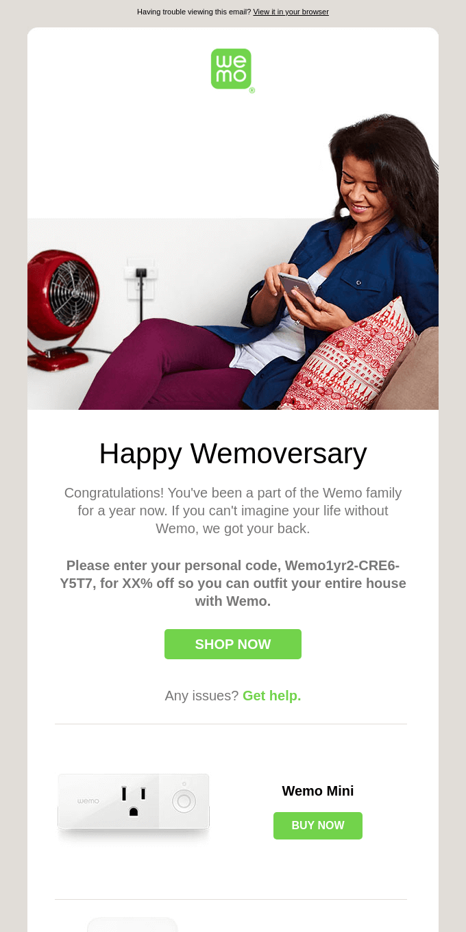 Exclusive gift for your 1-year anniversary