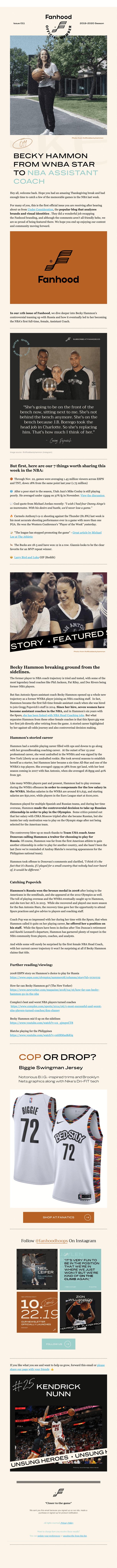 Fanhood Hoops 🏀🏀 - The Best Damn Basketball Newsletter In the World!!
