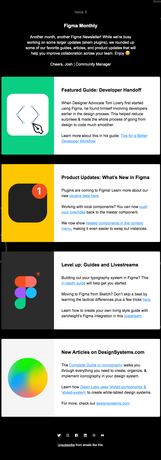 Figma Monthly - Product Updates ✅, New articles on DesignSystems.com 📝, and more! ✨