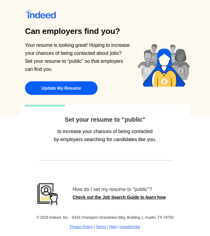 Find a job without looking