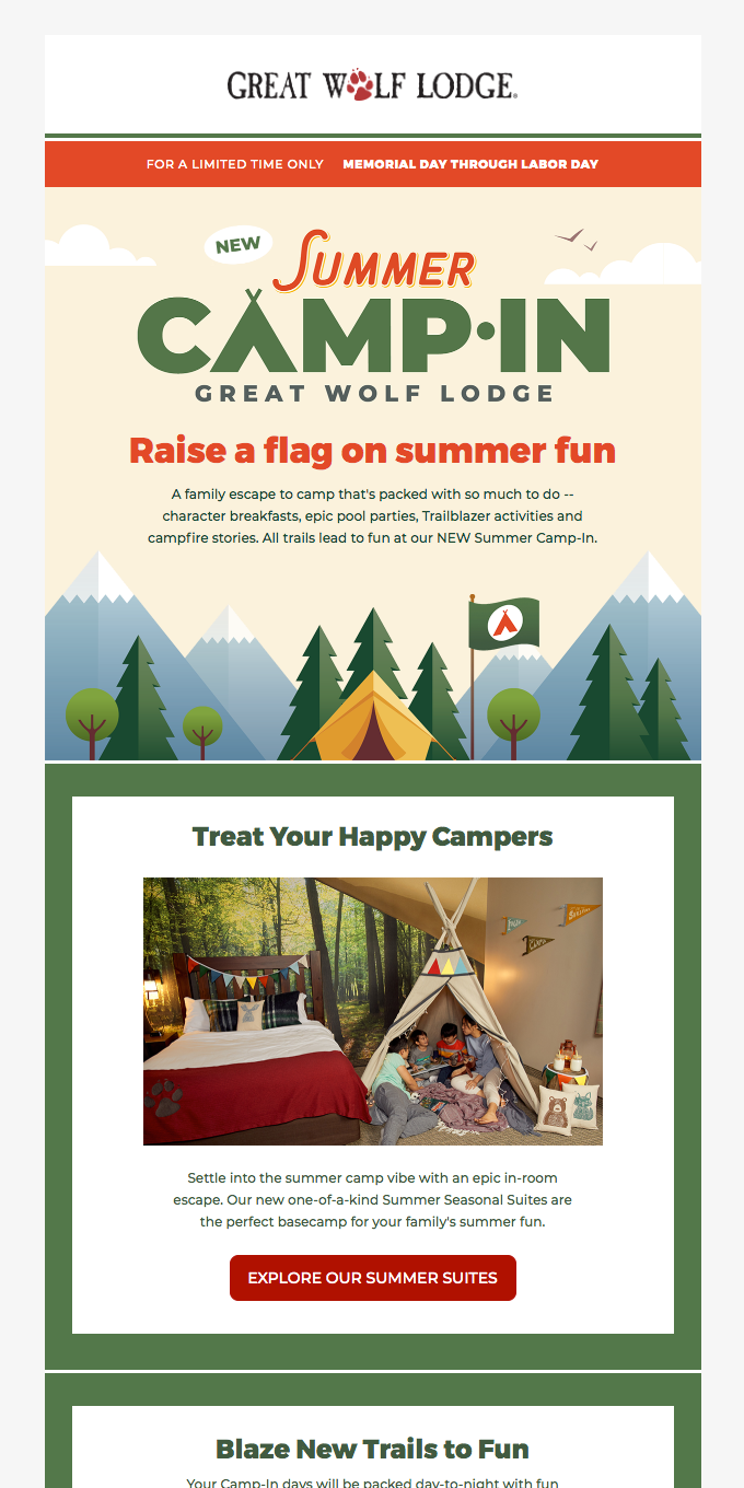 FIRST EVER! Summer Camp-In at Great Wolf Lodge