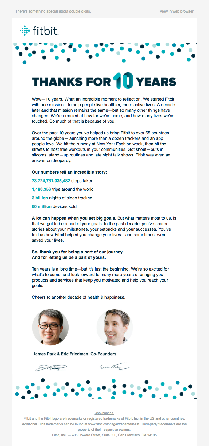 Fitbit is 10: A note from our founders