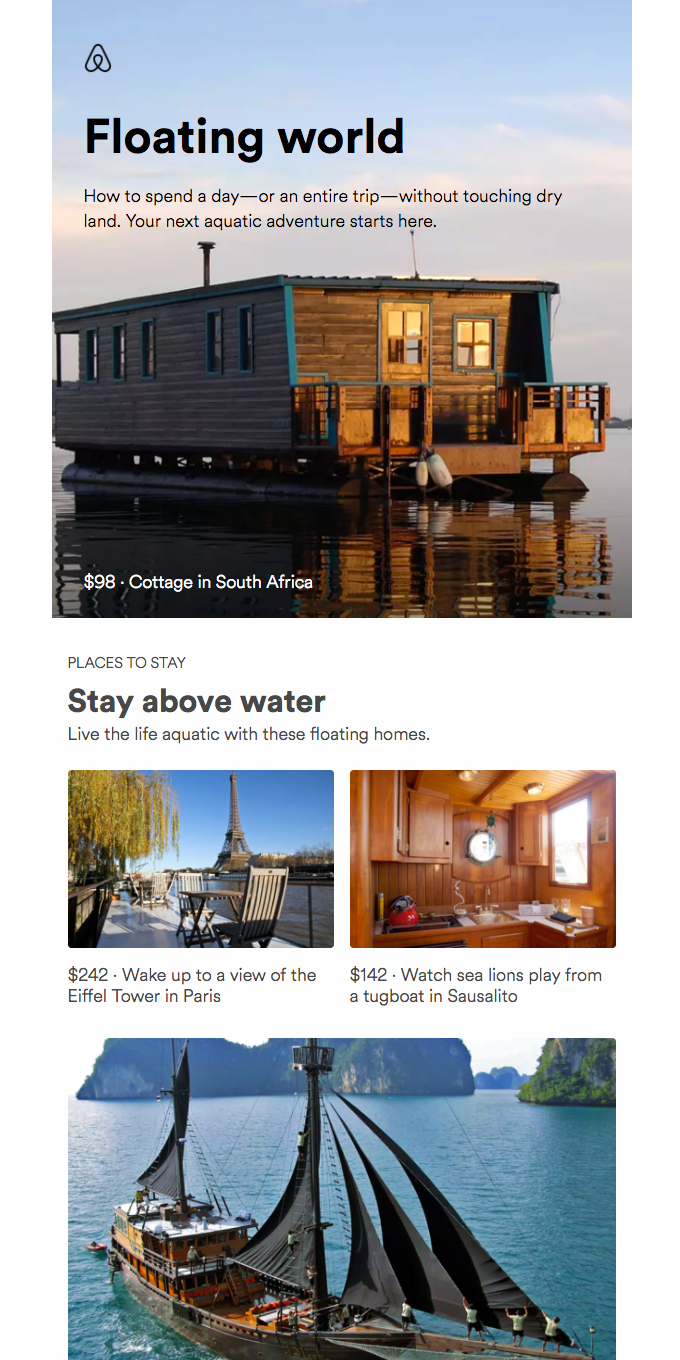 Floating homes, waterfall slides, & more reasons to travel