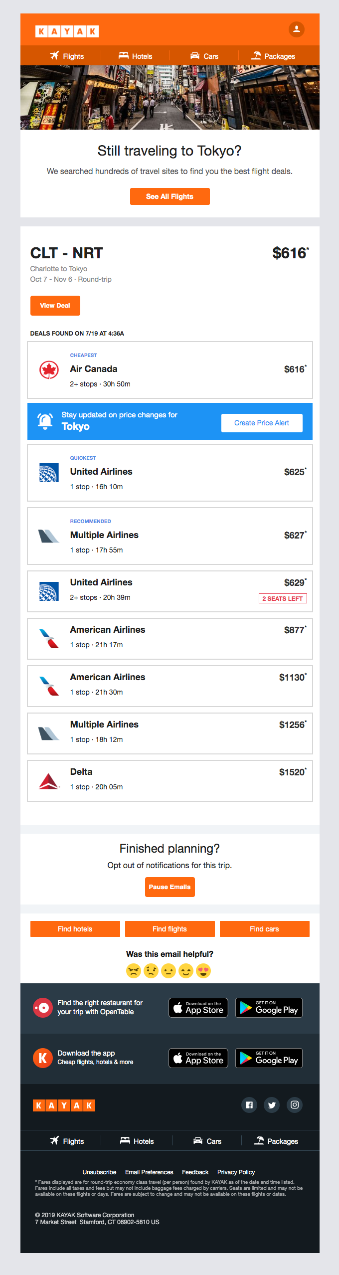 Fly from CLT to NRT for as little as $616