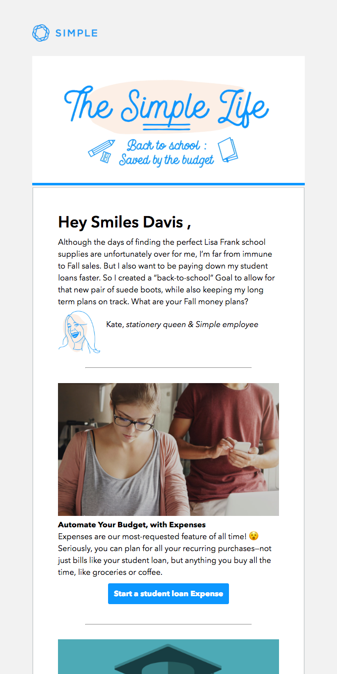 🎓️ For Smiles Davis: Saved by the budget