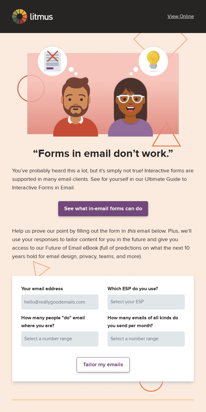 Forms in email? It's possible!