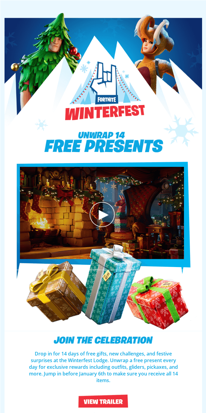 Fortnite - 'Tis the Freez-On, Welcome to Winterfest!