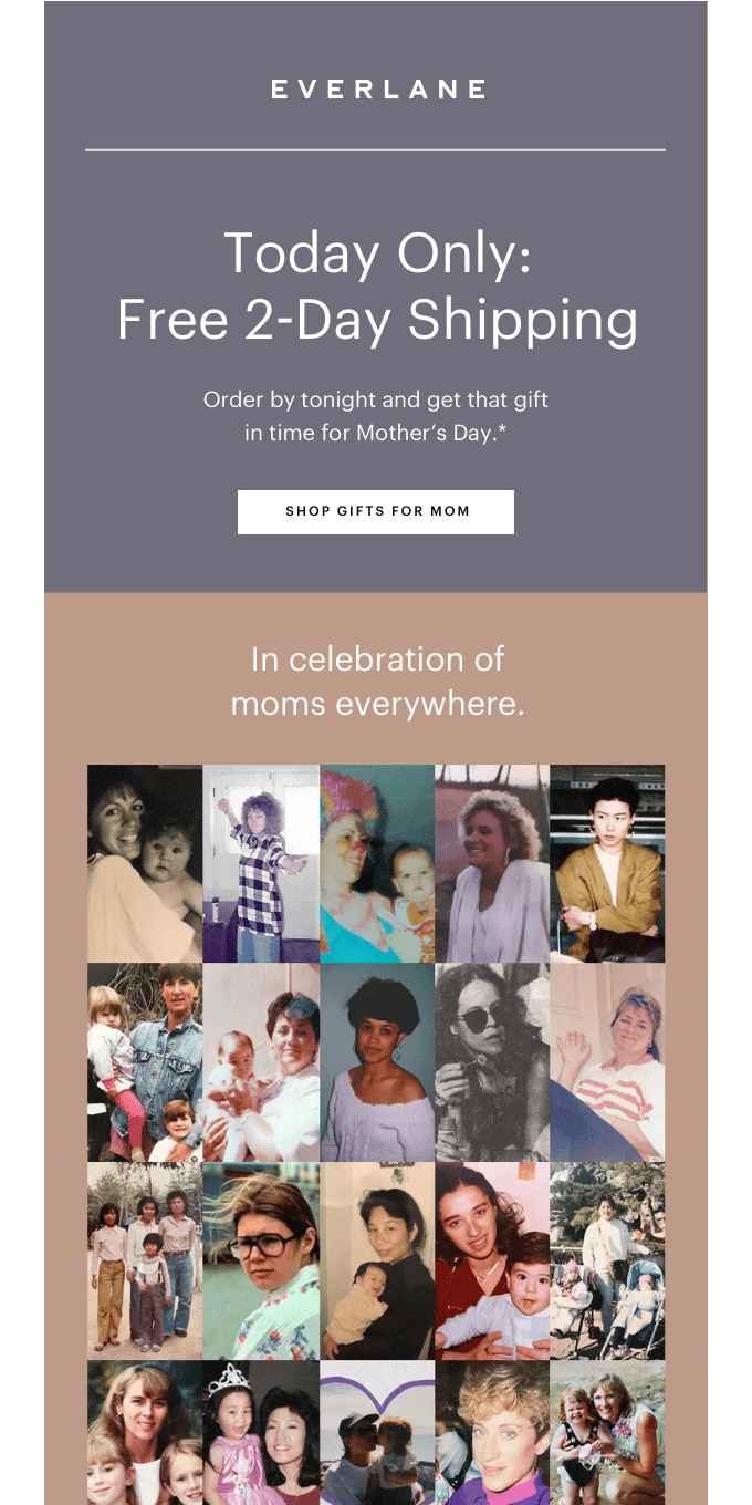 Free 2-Day Shipping—For Mom