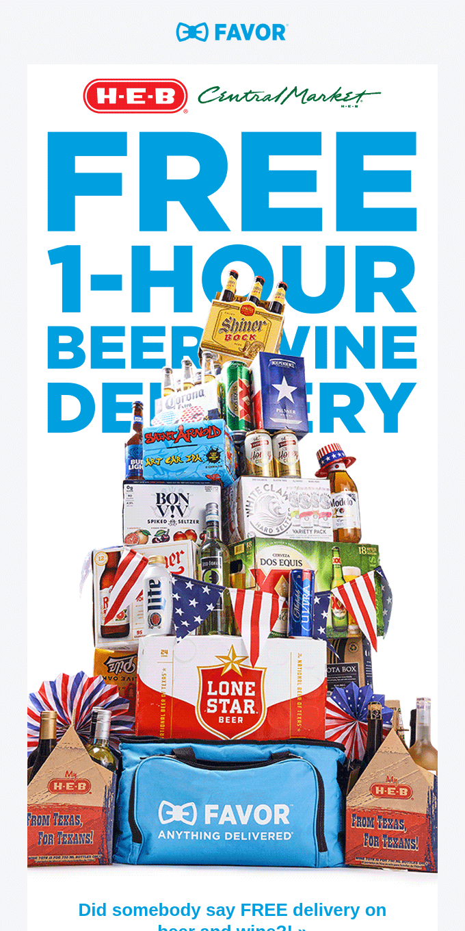 FREE delivery on beer and wine is here! 🍺🍷🙌