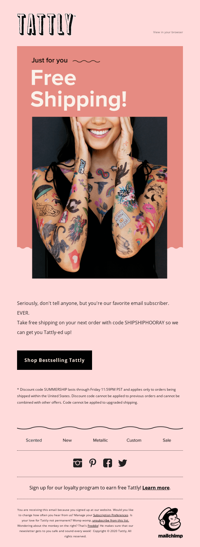Free Shipping Just for You!