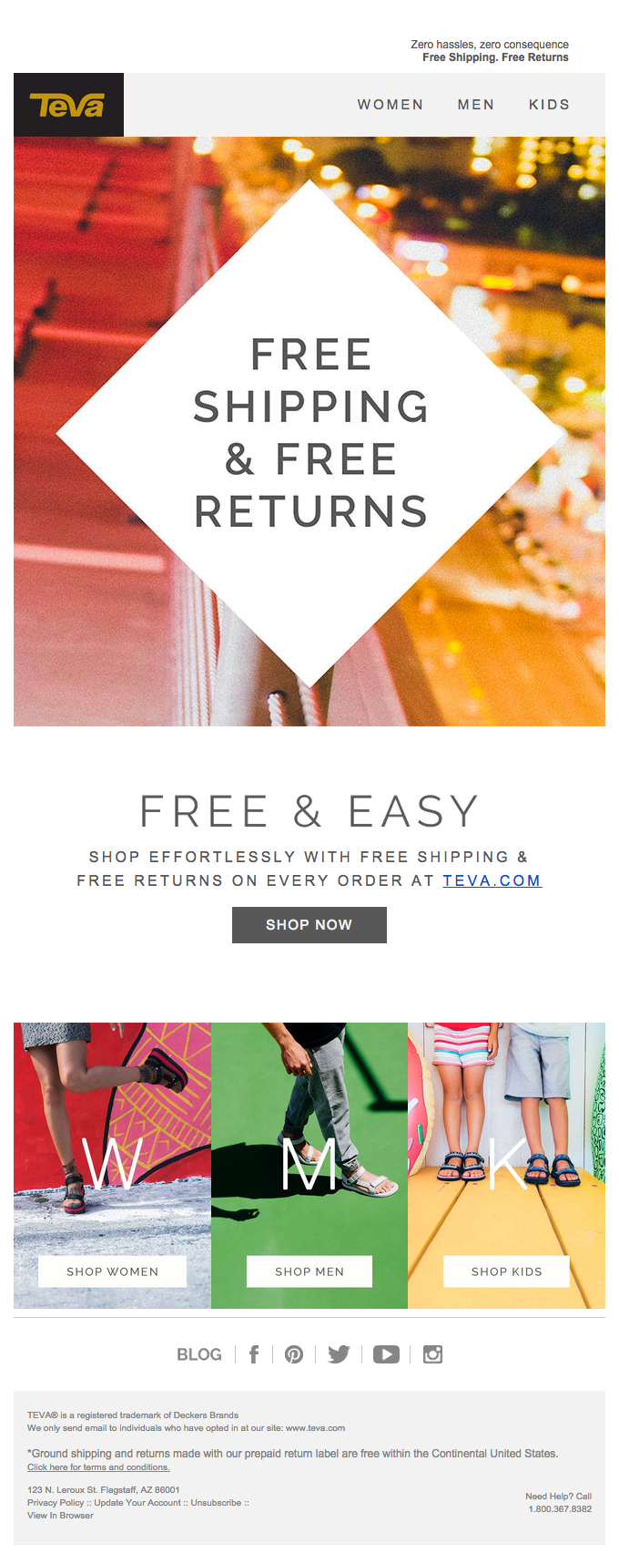 Free Shipping, Free Returns: Easy, Risk-Free Shopping With Teva