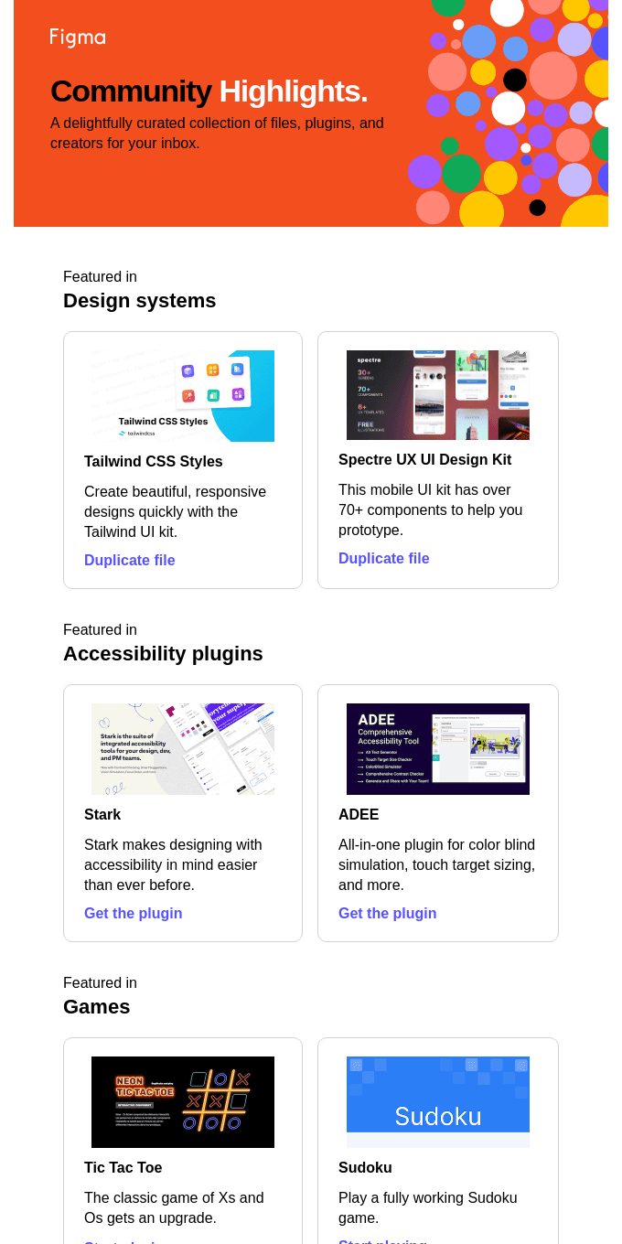 Freshly picked from Figma 🍎: Accessibility plugins, games, and more