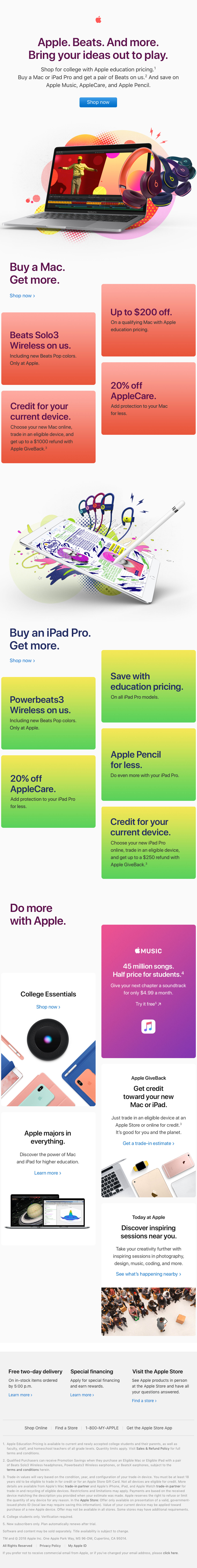 Get Beats when you buy a Mac or iPad Pro. Only at Apple.