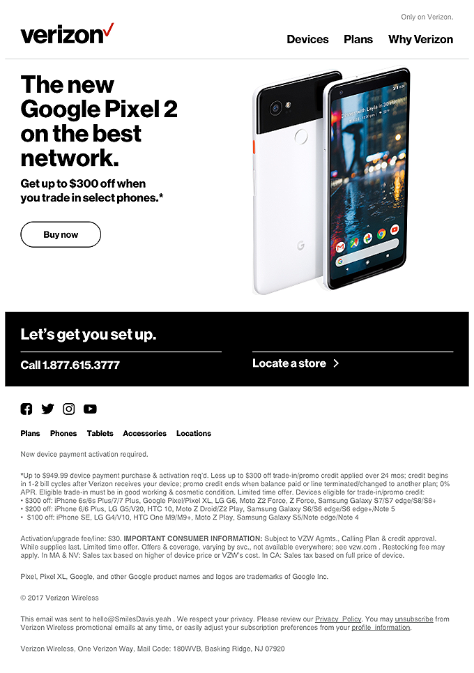 Get Google Pixel 2 today. Up to $300 off.