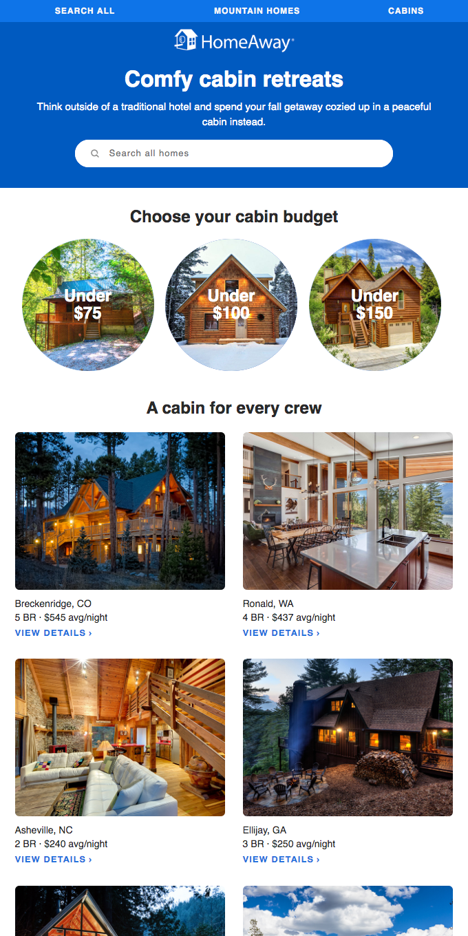 Get in the fall spirit with a cabin stay