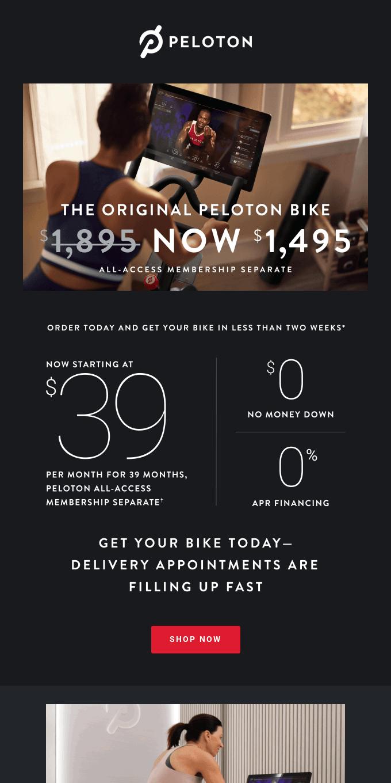 Get the Original Peloton Bike at Our Best Price Ever