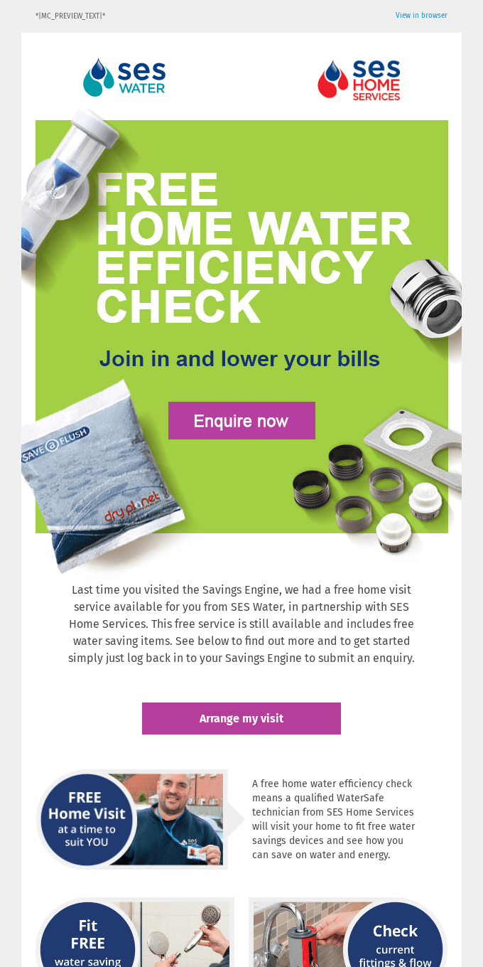 Get your FREE home water efficiency check