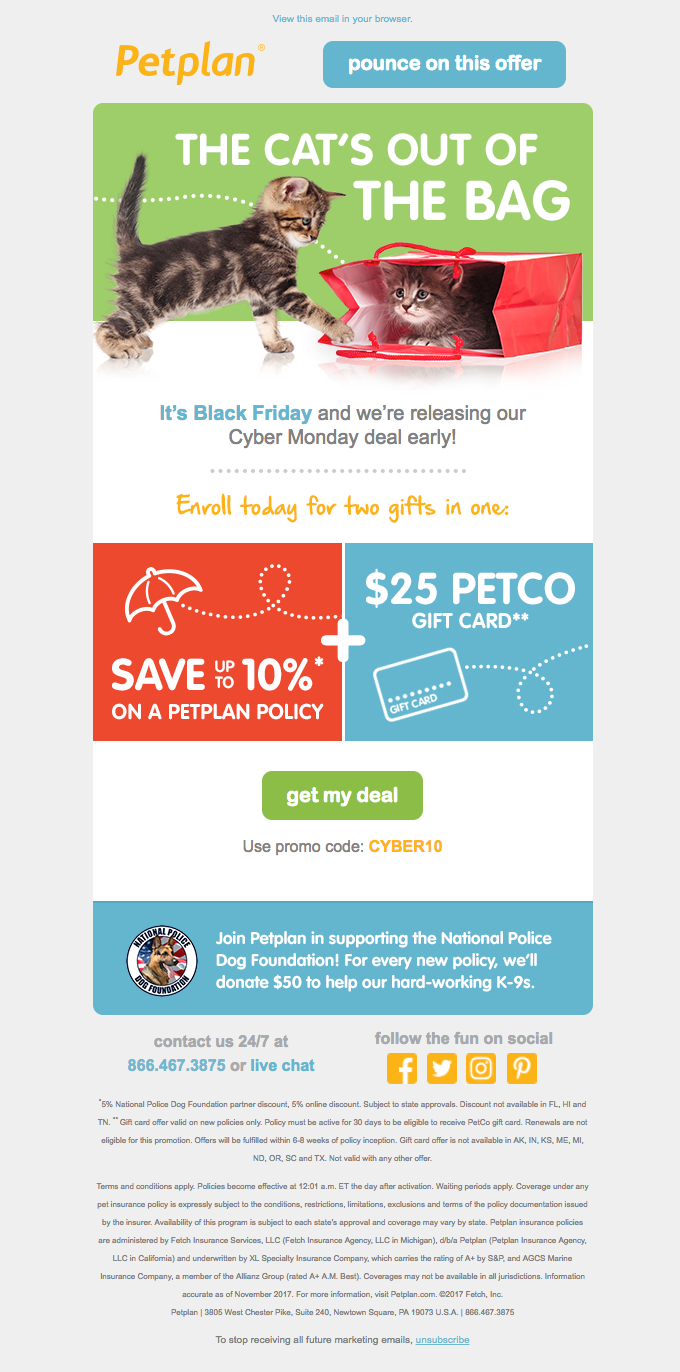 Get your paws on Black Friday savings from Petplan