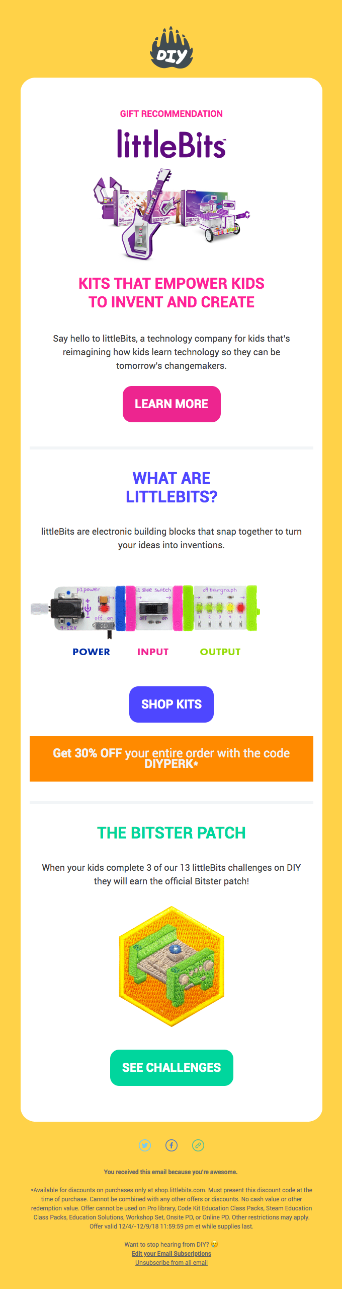 🔴 Gift Recommendation: 30% OFF littleBits today