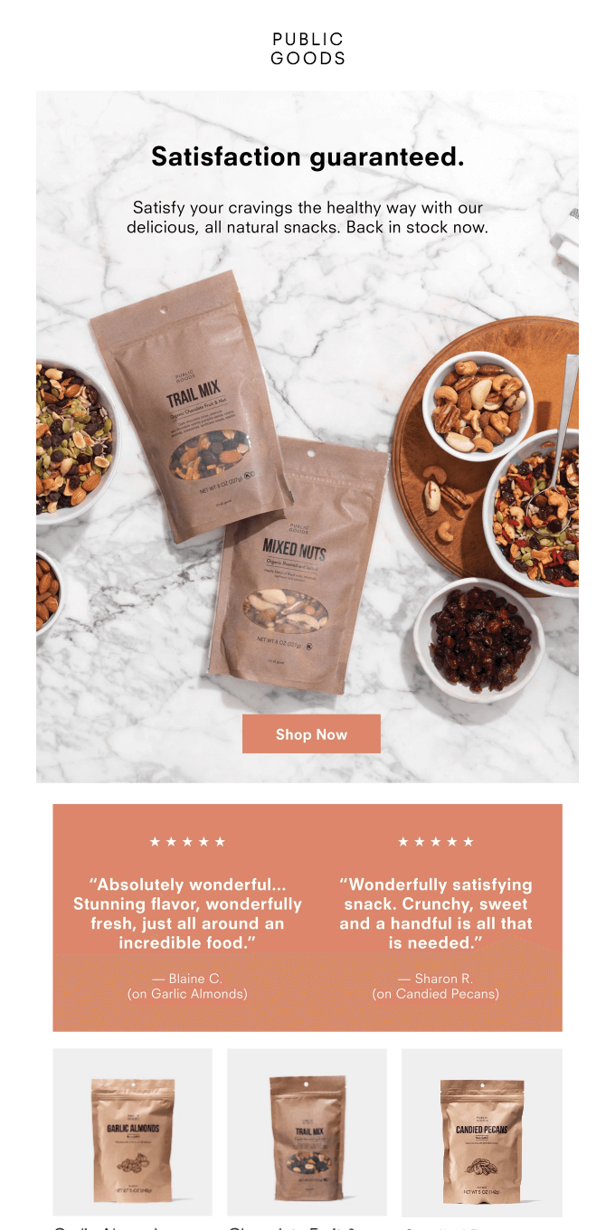 Go Nuts. Nuts, Trail Mixes & More Are Back In Stock Now.