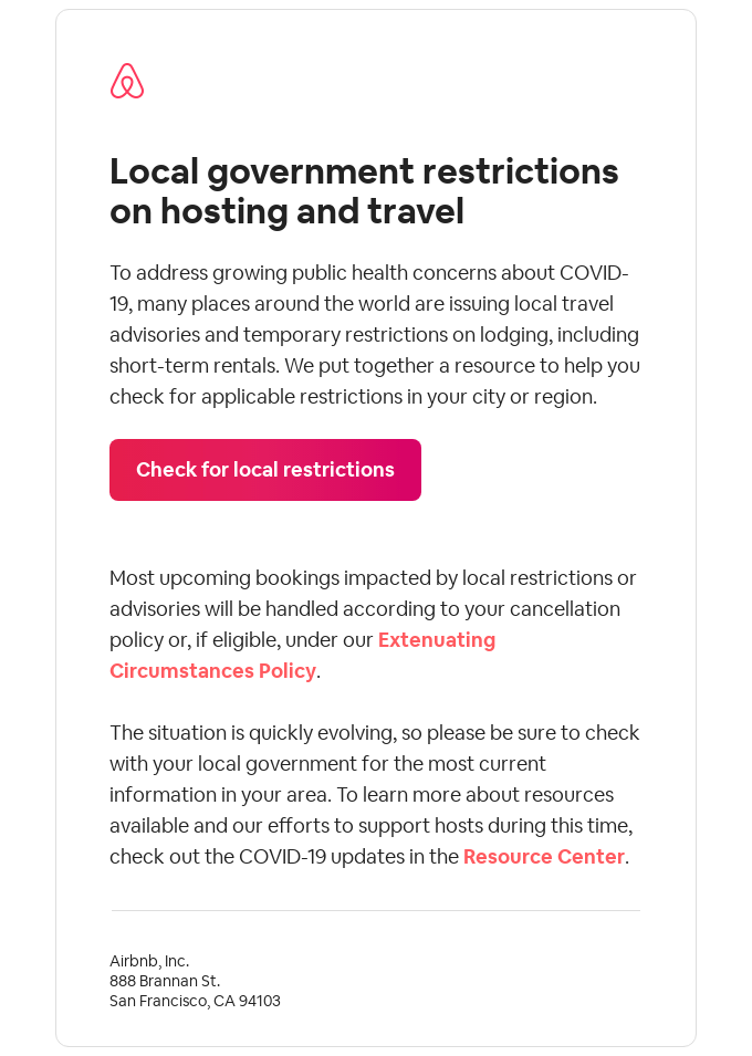 Government travel restrictions during COVID-19