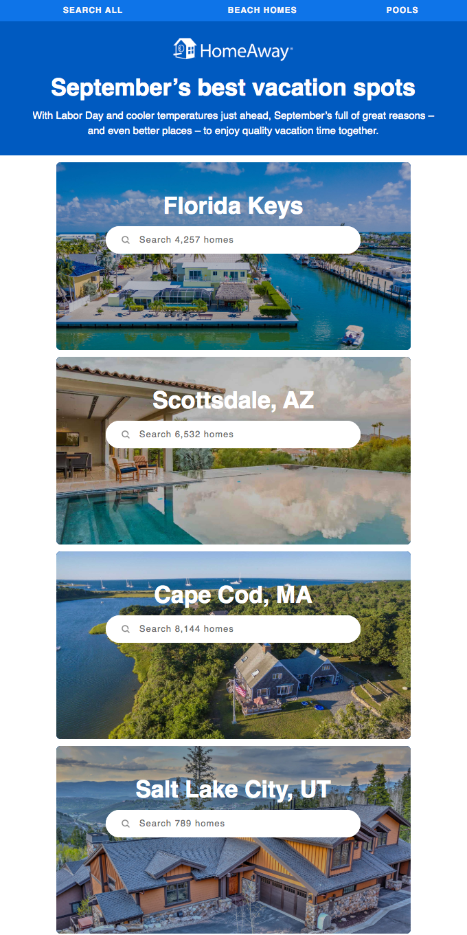 Great vacations to take this September