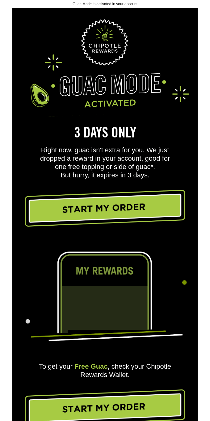 Guac Mode Activated: go get your FREE GUAC 🥑
