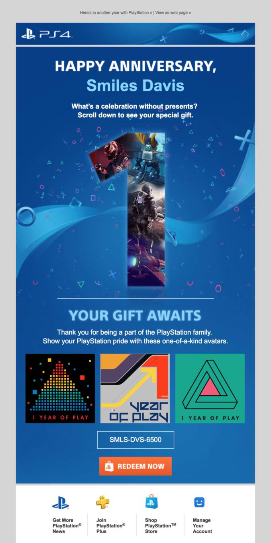 Happy 1st PlayStationversary! 🎉