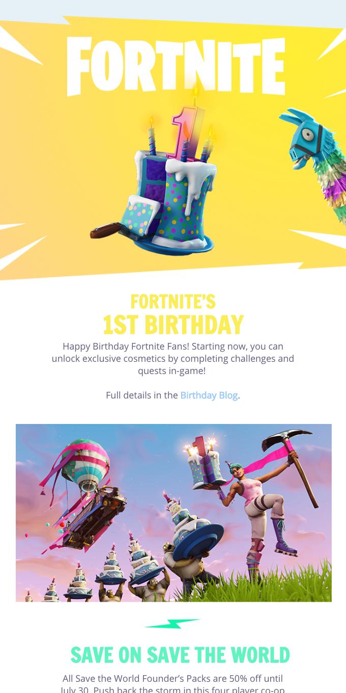 Happy Birthday Fortnite Fans!