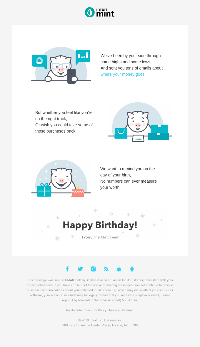 Happy Birthday from Mint