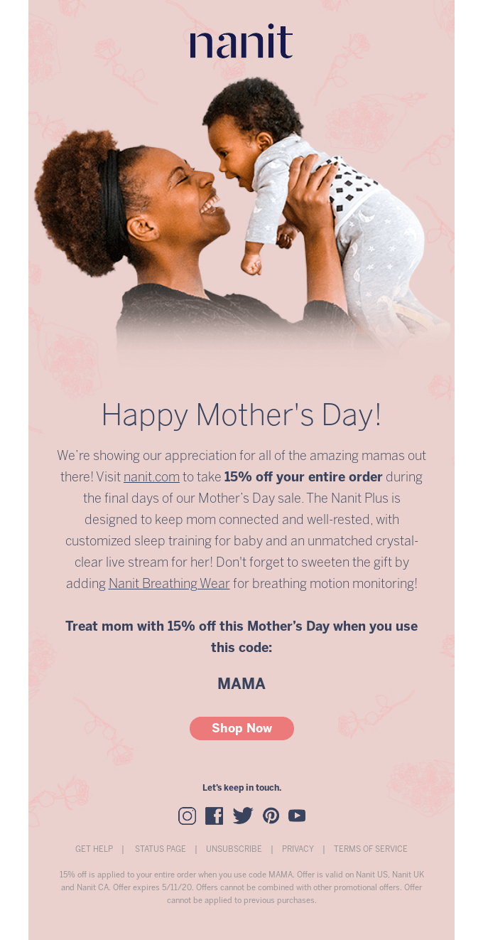 Happy Mother's Day from Nanit!