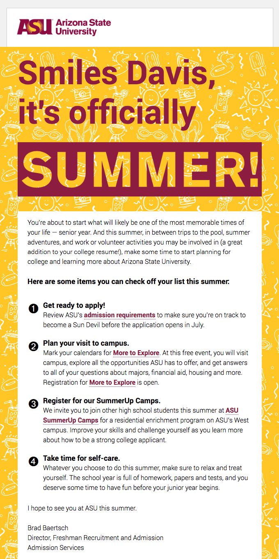 Happy summer from ASU! ☀