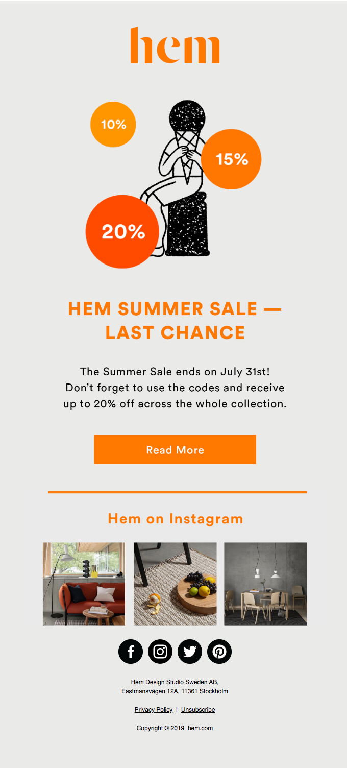 HEM SUMMER SALE — LAST CHANCE