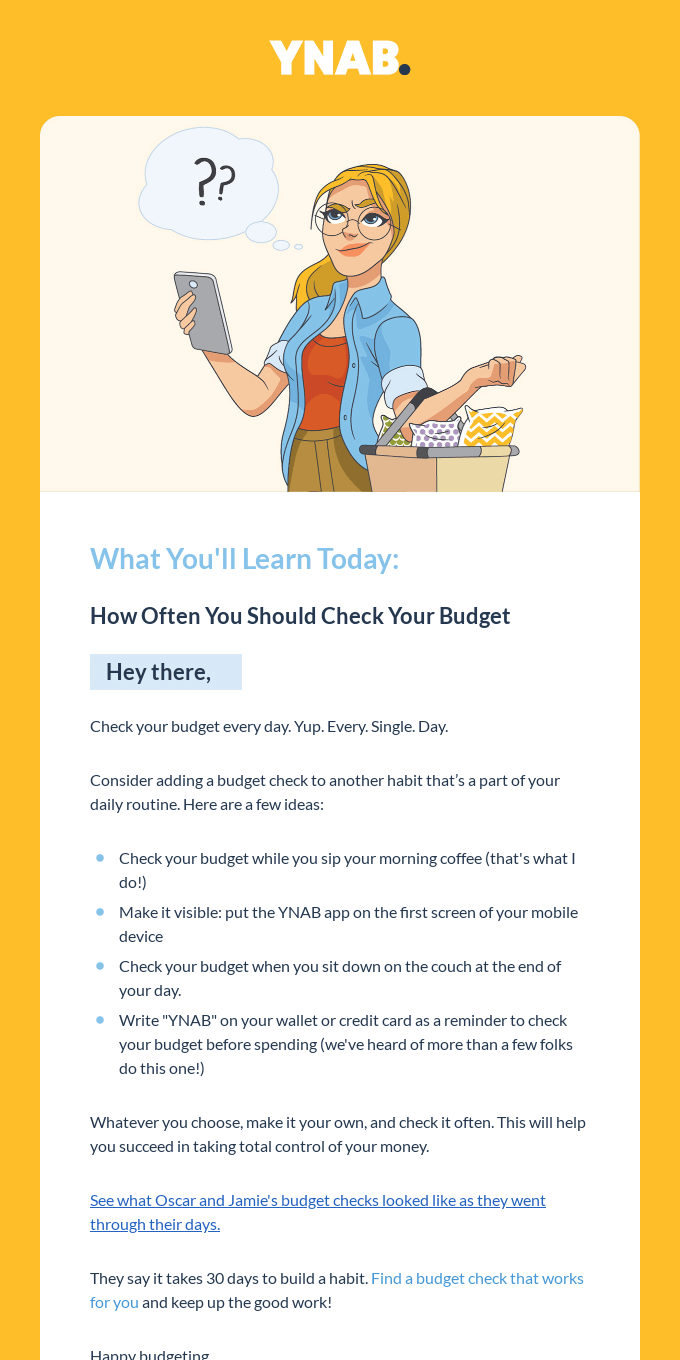 Here's how often you should check your budget