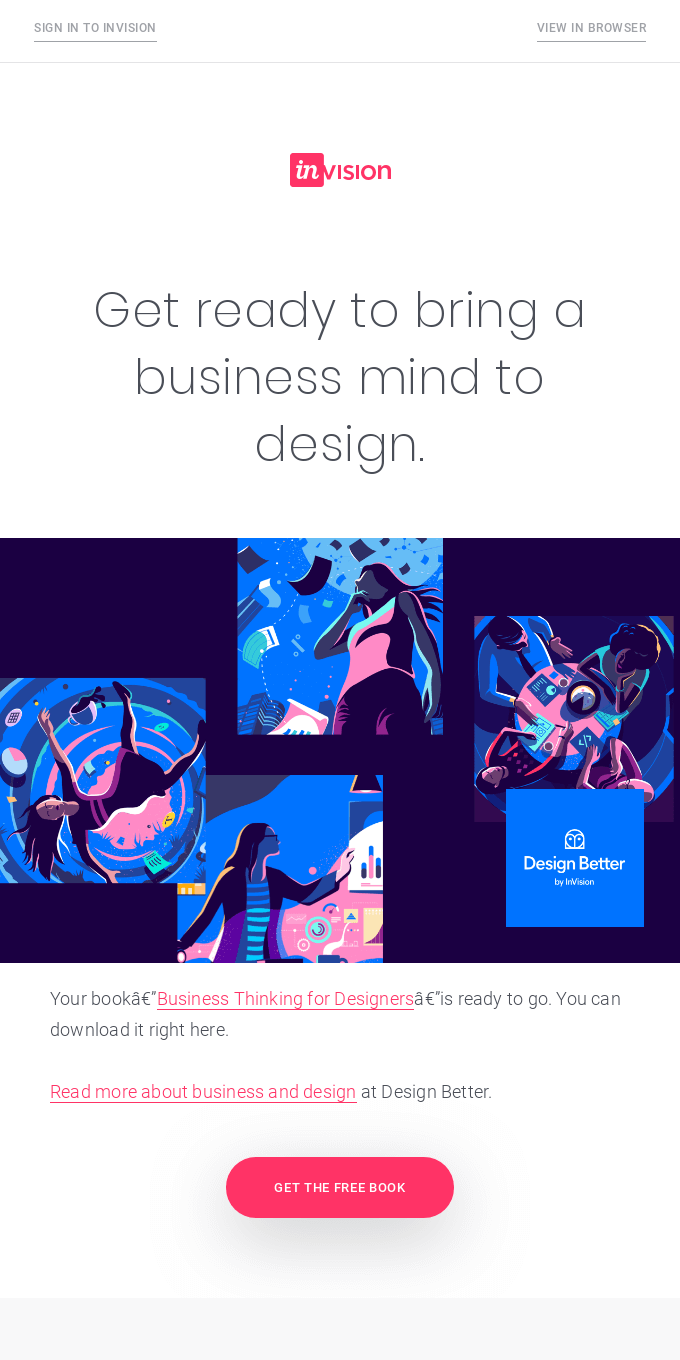 Here's your book: Business Thinking for Designers